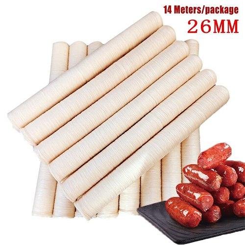 Sausage Packaging Tools 14m*40mm Sausage Tube Casing for Sausage Maker Machine Hot Dog Hamburger Cooking Tools sausage Case