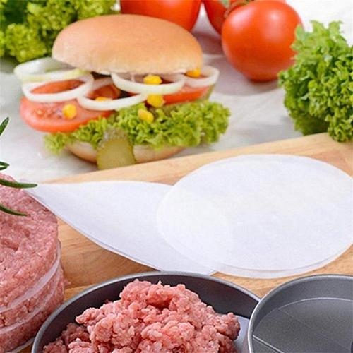 Round Shape Stainless Steel Hamburger Meat Press With Wooden Handle Patty Maker Mold Kitchen Accessories Burger Mold for Cutlets