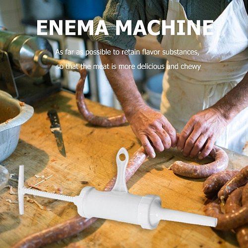 Practical Sausage Maker Plastic Kitchen Pig Sheep Intestines Syringe Meat Filler Machine Nozzle Sausage Meat Stuffer Set