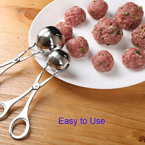 Convenient Kitchen Meatball Maker Stainless Steel Meatball Clip Fish Ball Rice Ball Making Mold Tool Kitchen