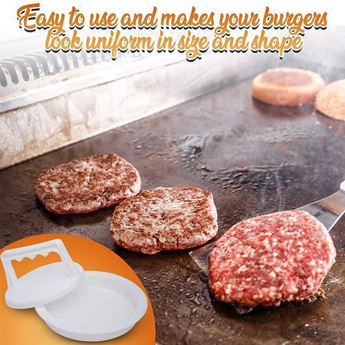 Hot Burger Press Food-Grade Plastic Hamburger Meat Beef Grill Burger Press Patty Maker Tool Round Shape Hamburger Press PLD
