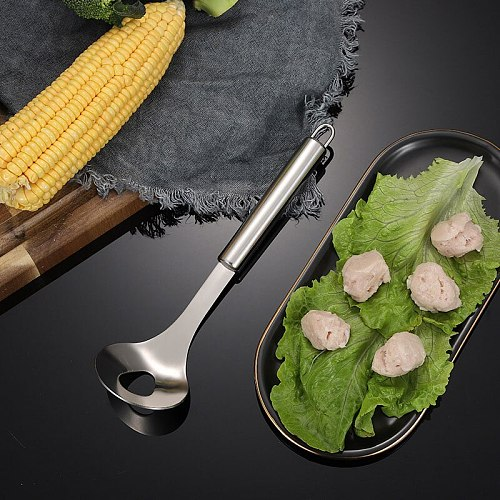 Comfortable Stainless Steel Meatball Spoon Useful Product Extrusion Meatball For Making Meatball Kitchen Gadgets Home In Stock