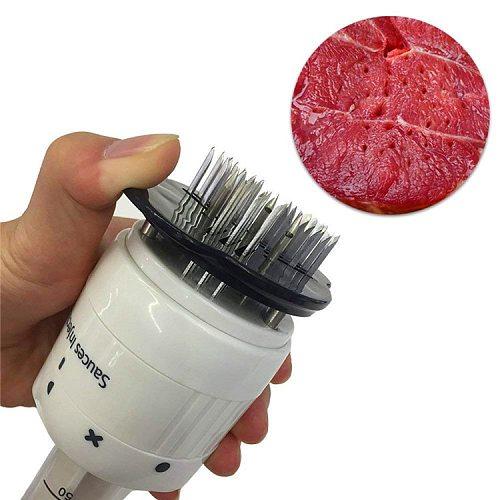 1PC Multifunctional Meat Tenderizer Needle Stainless Steel Steak Meat Injector Marinade Flavor Syringe Kitchen Tools