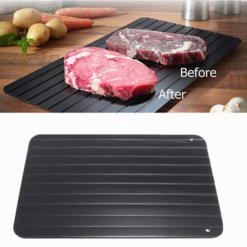 1Pc Kitchen Gadget Tool Fast Defrosting Tray Chopping Board Rapid Safety Thawing Tray Quick Thawing Plate For Frozen Food Meat