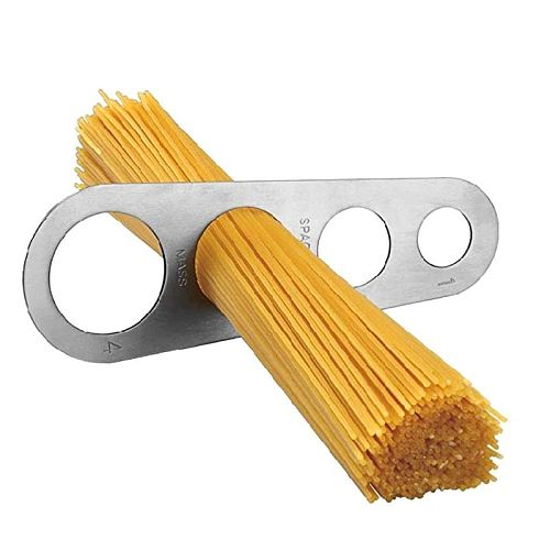 Stainless Steel Spaghetti Measurer Tool with 4 Holes Pasta Portion Control Gadgets 4 Portion Cooking Tool