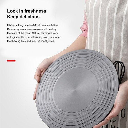 Heat Diffuser for Gas Stove Aluminum Thawing Plate Round Fast Defrosting Tray Quick Thawing for Frozen Meat