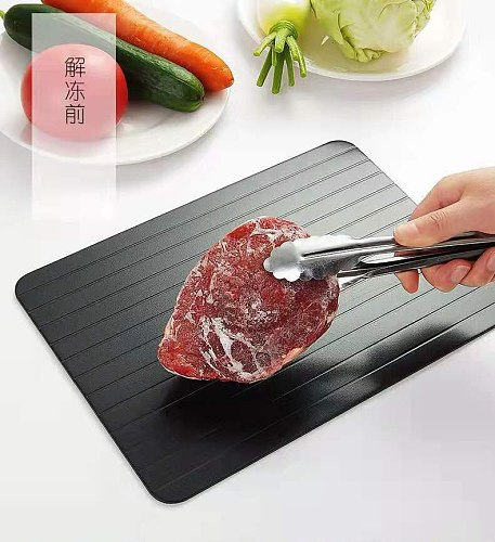 Thaw Master Fast Defrosting Tray  Frozen Food Meat Sea Fish  Fruit Quick Defrosting Plate Board Defrost Kitchen Gadget Tool