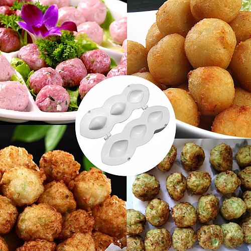 Meatball Maker Machine Manual Rolls Meatloaf Press Mold DIY Meat Pie Crushed Minced Meat Processor Desserts Home Kitchen Tools