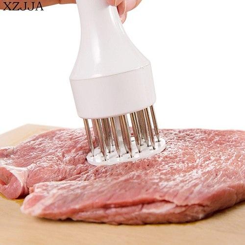 XZJJA Creative kitchen Stainless Steel Steak Pork Chop Fast Loose Meat Tenderizer Needle Hammer Meat Tools Kitchen Accessories