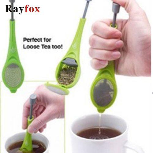 Total Tea Infuser Gadget Built-in Plunger Tea Strainer Measure Swirl Steep Stir Press infusor de cha Te Making Tools Tea Bag