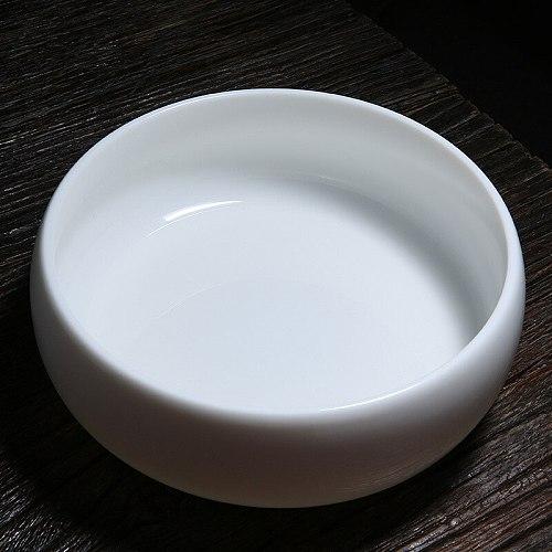 Suet Jade White Porcelain Large Extra Large Tea Washing Tea Bowl Ceramic Kung Fu Tea Set Tea Ceremony Accessories