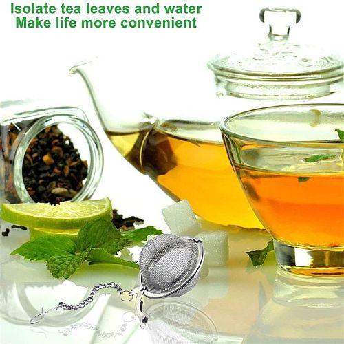 Cooking Seasoning Filter Stainless Steel Tea Strainer Locking Tea Infuser Filter Mesh Tea Ball Seasoning Herb Spices Strainer