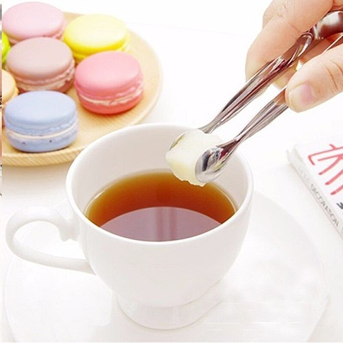 1pc Coffee Sugar Clip Stainless Steel Tweezer Mini Clamp Tong Clips Coffee Ice Cube Little Tea Clips Hot Kitchen Bar Tool Supply