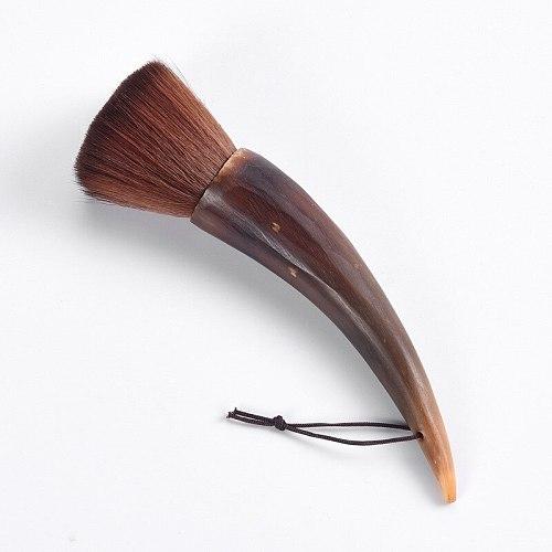 Tea set accessories, tea ceremony non-shedding tea brush, horn raising pot pen, tea sweep pen cleaning