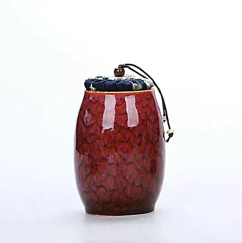 Ceramic Tea Cans Jar Portable Travel Tea Storage Caddy Container Mini Sealed Tank Packaging Box Teaware Accessories