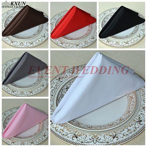 50pcs Lot 100% Cotton Napkin Table Cloth Napkins For Wedding Event Party Decoration