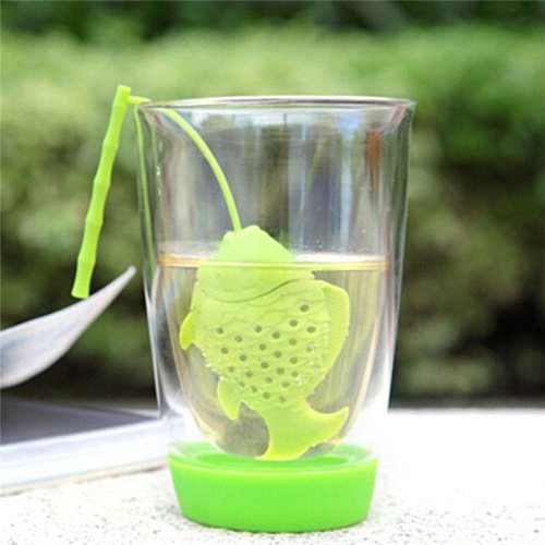 1Pcs Tea Leaf Strainer High Quality Silicone Fish Shape Infuser Herbal Spice Filter Diffuser Mini Kitchen Accessories