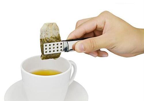Stainless steel tea bag clip anti-scalding tea set accessories tea set small food clip