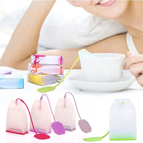Tea Strainer Bags Food Grade Silicone Coffee Loose Tea Leaves Infusers Corrosion Resistance Safe Non-toxic No Smell Kitchen Tool