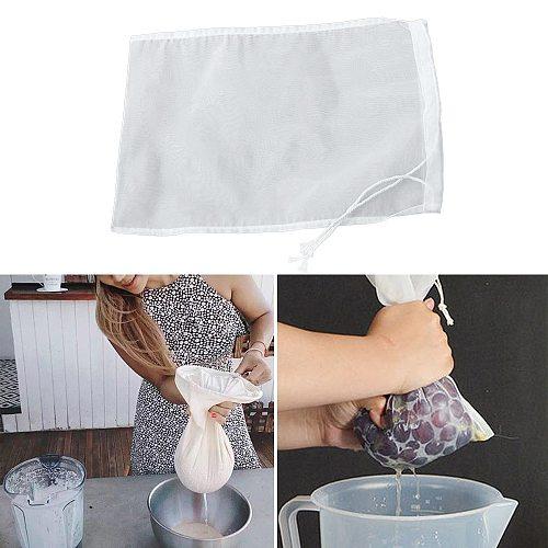 2 pieces of reusable steel wire mesh filter cloth bag tea bag nylon net filter tea pulp juice jelly food milk