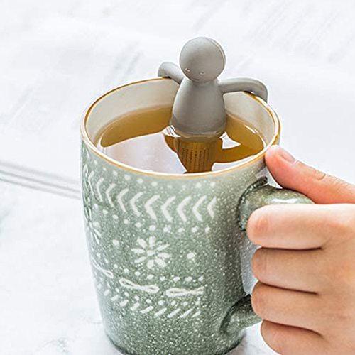 1 pcs Removable Little Casual Man Tea Strainer Cute Silicone Tea Infusers Tea Strainers Loose Leaf Tea Filter Teaware tools