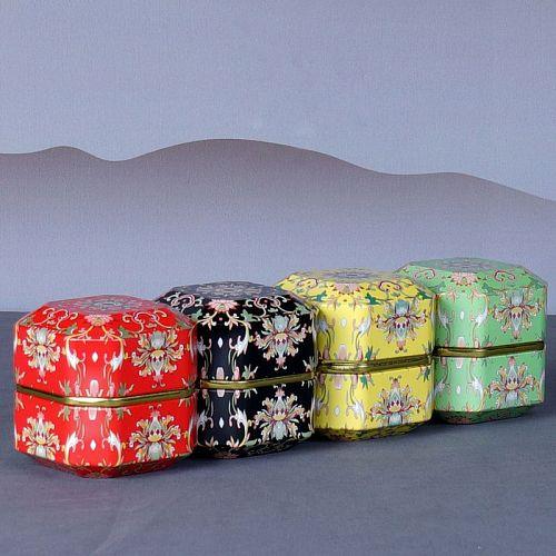 Diamond Shape Mini Tin Tea Coffee Candy Storage Box Tea Can Metal Case Wedding Party