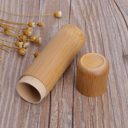 Bamboo Tube Tea Box Airtight Small Container Spices Storage Jar With Lid 4 Size E1PB wholesales