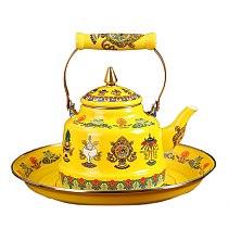 Tibetan Silver Chinese CHINESE TIBET SILVER PORCELAIN MONKEY lid TEA POT tools wedding Decoration Brass