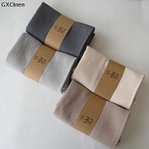 4pcs Cotton Table Napkins Cotton Kitchen Waffle Pattern Tea Towel Absorbent Dish Cleaning Towels Cocktail Napkin For Weddings