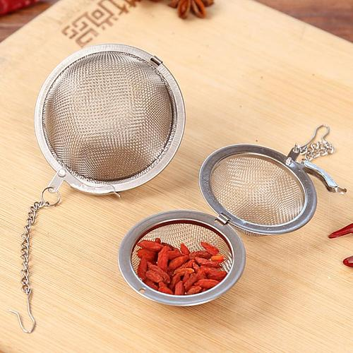 2 Size Optional Stainless Steel Seasoning Ball Strainer Mesh Solid Spice Residue Filter Tea Infuser Tools Tea Strainers Teaware