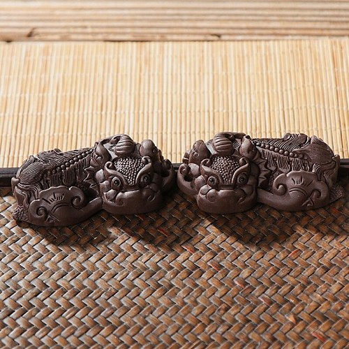 Brave Troops Tea Pet Creative Purple Clay Decoration Lucky Tea Accessories Tea pet ornaments