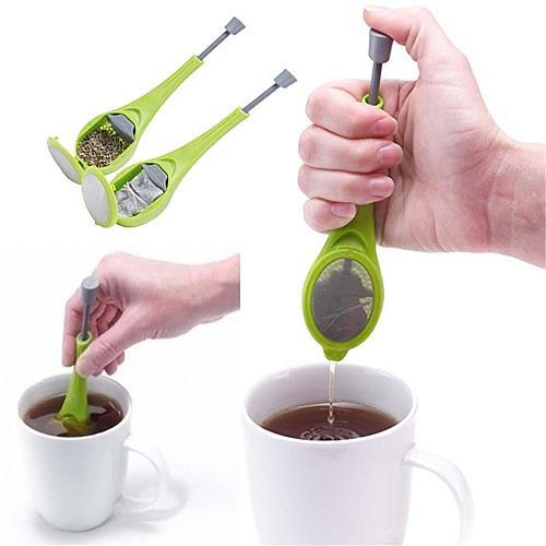 Tea&Coffee Strainer Tea Filter Tea Strainer Stir Swirl Total Tea Infuser Gadget Measure Swirl Steep Stir and Press Plastic