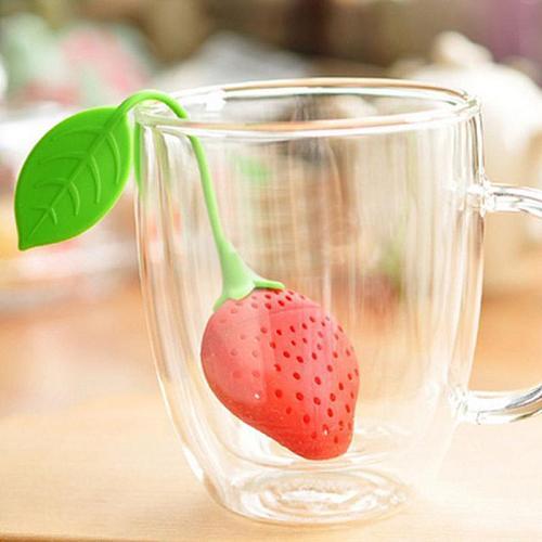 1 Pcs Food Grade Silicone Strawberry Tea Strainer Tea Infuser Tea Storage Case Creative Kitchen Bar Tools Tea Accessories