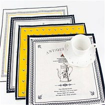 New 4 Patterns New Classical Europe Fabric Art Table Napkin Cotton Linen Cloth Table Napkin Home Hotel Table Decoration