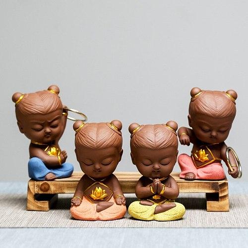 Creative Ceramics Nezha Ornaments Tabletop Tea Set Tea Ceremony Accessories Purple Sand Tea Pet Furnishings
