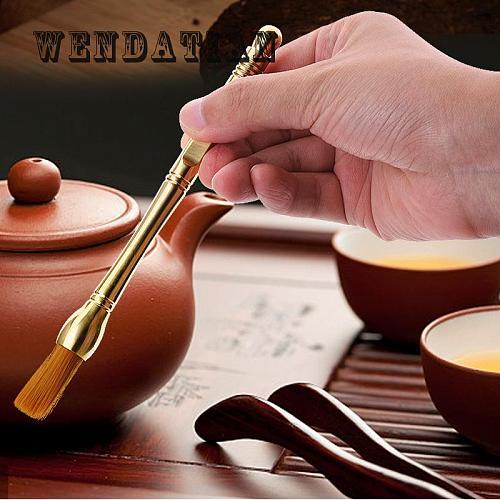 Kitchen Teaware Brass Pot Kung Tea Wash Tea Brush Brushes with gift box