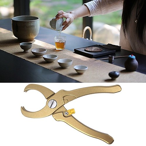 Aluminum Alloy Tea Pliers Tongs Clip Multifunction Brick Accessories Clamp Knife Pincers Kitchen Supplies