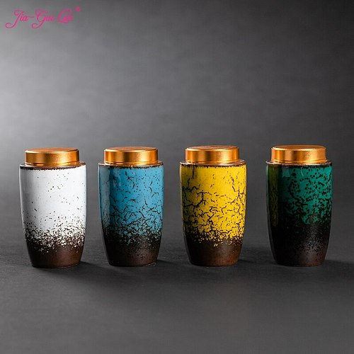 JIA-GUI LUO  Ceramic Tea Caddies tea container  tea bag storage box  tea tins  tea organizer  tea set  tea box  tea storage D104
