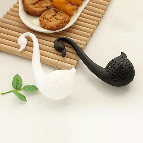 1PC Creative Swan Shape Tea Strainer Environmentally Friendly Plastic Elegant Swan Tea Infuser For Home Kitchen Tea Accessories