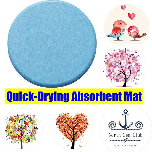 Round Natural Diatom Mud Quick-Drying Absorbent Mat Home Moisture-proof Washing Table Soap Tea Desk Cup Kitchen Bowl Pad Coaster