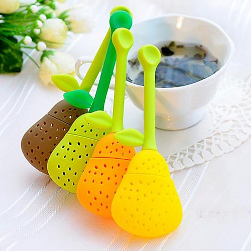 1pc Silicone Pear Shape Tea Leaf Strainer Spice Herbal Infuser Filter Tool Tea Strainers Teapot Teacup Accessories 2020