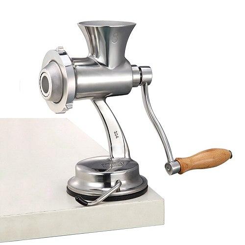 Manual Stainless Meat Grinder Machine Food Grinder Home Meat Mincer Hand Crank Sausage Filler Cozinha Household Products DH50JRJ