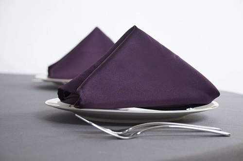 100pcs 20 x20  Purple Square Napkins For Wedding/Party Banquet Supplies Handkerchief Free Shipping