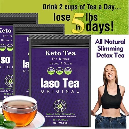 Original Keto Laso Tea Slimming Detox Tea Weight Loss Product Cleanse Reduce Bloating and Constipation Fat Burnning Tea