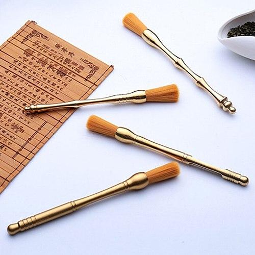 New Fashion Luxury Brushes Pure Copper High-grade Tea Brush Creative Boutique Office Home Tea Accessories Tea  Matcha Tea Powder