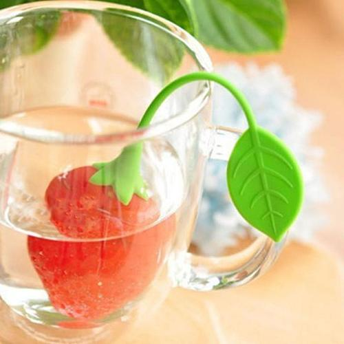 Silicone Strawberry Tea Leaf Strainer Loose Herbal Spice Infuser Filter Diffuser Creative Tea Tools Kitchen Accessories Teaware