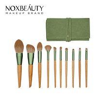 Free Shipping NOXBEAUTY 10 PCS/Set Makeup Brushes Set Make Up Brushes Kit Foundation Powder Blush Eye Shadows Makeup Brushes