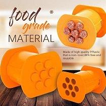 Manual Sausage Maker Meat Stuffer Filler Hand Operated Salami Maker Plastic Meat Filler Sausage Filling Stuffer Funnel Tube