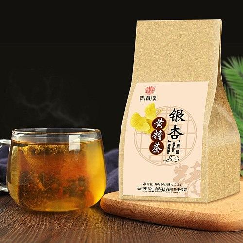 Alternative Tea Ginkgo Polygonatum Tea Ginkgo Polygonatum Soothing Hemp Rentong Huangjing Ginkgo Healthy Tea Teabag 120g/bag