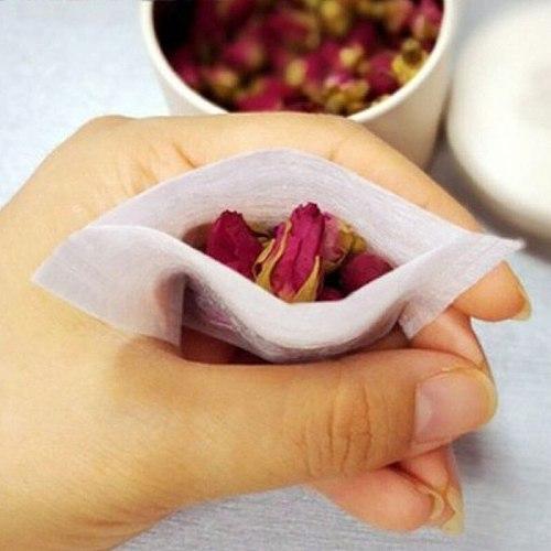Environmental Natural Corn Fiber Folding Tea Bag PLA Biodegraded Tea Filters Herbal Tea filter bags 100pcs/lot